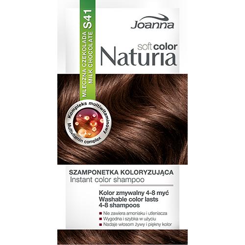 Оттеночный шампунь для волос JOANNA NATURIA SOFT тон 41 Молочный шоколад