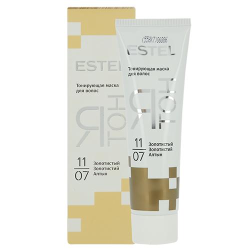 Маска для волос тонирующая `ESTEL` Я ТОН тон 11/07 (золотистый) 60 млОкрашивание<br>Маски предназначены для придания интенсивного оттенка волосам без седины или с небольшим количеством седых волос.<br>Я ТОН — это два эффекта в одном продукте:<br>• Обновление цвета: яркий или деликатный оттенок на ваш выбор (в зависимости от времени выдержки маски).<br>• Интенсивный уход: маска глубоко увлажняет, питает и восстанавливает структуру волос.<br>