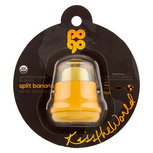 Бальзам для губ `POGO` с ароматом банана 4,25 гГубы<br>Органические  бальзамы  для  губ  относятся  к  гигиеническим   уходовым   средствам, являются   разновидностью  губной  помады.  Пчелиный   воск,  входящий  в  состав, способствует  поддержанию  водно-жирового  баланса  кожи  губ и  препятствует  чрезмерному  испарению  влаги с  их  поверхности.<br>