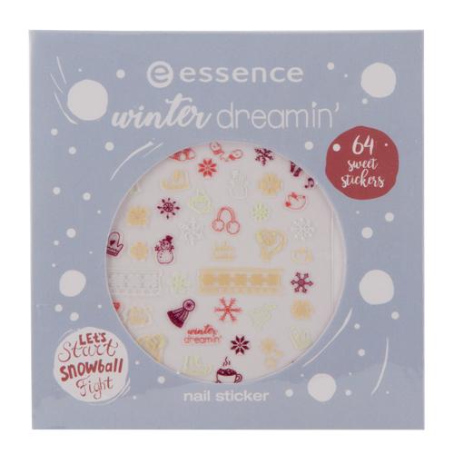 Наклейки для ногтей `ESSENCE` WINTER DREAMINДизайн ногтей<br>Наклейки для создания симпатичного зимнего маникюра. 64 наклейки в наборе<br>