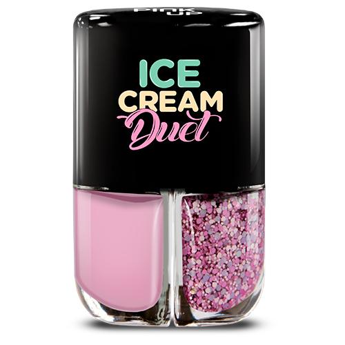 Набор лаков для ногтей PINK UP ICE CREAM DUET тон 09 2x4 млЛаки<br>Набор лаков для ногтей для создания летнего маникюра.<br>