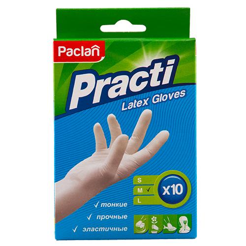 Перчатки хозяйственные PACLAN Practi латексные размер M 10 шт