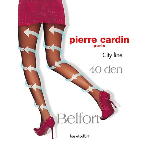 Колготки женские `PIERRE CARDIN` `CITY LINE` BELFORT 40 den (nero) р-р maxiКолготки<br>Колготки с микромассажным антицеллюлитным эффектом. Активизируют циркуляцию крови благодаря градуированному давлению на ногу. Шелковистые, эластичные однородные по всей длине, с х/б ластовицей и комфортными швами. Укрепленный, прозрачный мысок и отформованная пятка.<br>
