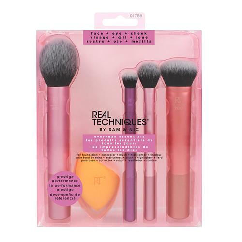 Набор кистей и спонж для макияжа REAL TECHNIQUES Everyday essentials фото