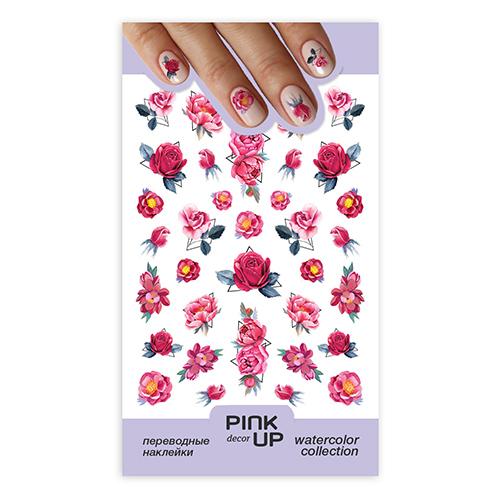 Наклейки для ногтей PINK UP DECOR WATERCOLOR переводные тон 631