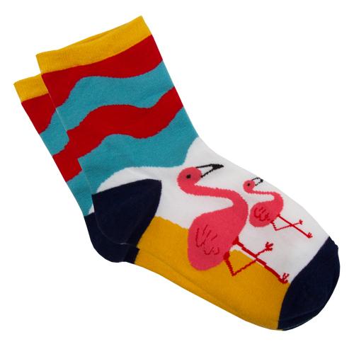 Носки женские `SOCKS` Big flamingo р-р единыйГольфы и носки<br>Носки женские Big Flamingo р-р единый<br>