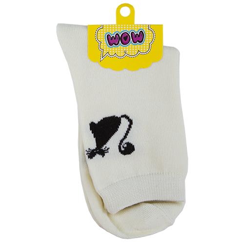 Носки женские `SOCKS` Kitty white р-р единыйГольфы и носки<br>Носки женские Kitty white р-р единый<br>