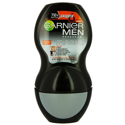 Део-ролл муж. `GARNIER` `MINERAL` ЗАЩИТА 6 Очищающая моринга (антиперспирант) 50 млДезодоранты<br>Роликовый дезодорант-антиперспирант для тела. 72ч защиты с очищающей Морингой, который обеспечивает защиту 6-в-1. Комплексная защита 6в1, которая борется с появлением неприятного запаха на коже и одежде. На коже против: 1. Пота 2. Дискомфорта 3. Запаха на коже. На одежде против 4. Запаха на одежде 5. Белых следов 6. Желтых пятен. Минералом Перлит – мощным абсорбентом вулканического происхождения. Позволяет коже дышать. 72 часа защиты от запаха.<br>