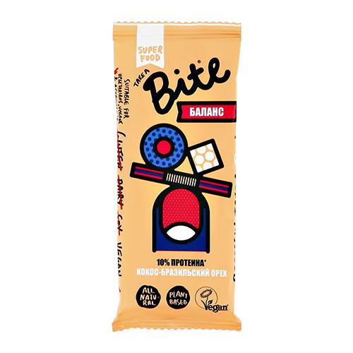 Батончик фруктово-ореховый BITE БАЛАНС Кокос-бразильский орех 45 г