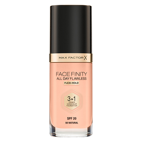 Основа тональная для лица `MAX FACTOR` FACEFINITY ALL DAY FLAWLESS 3 в 1 тон 50