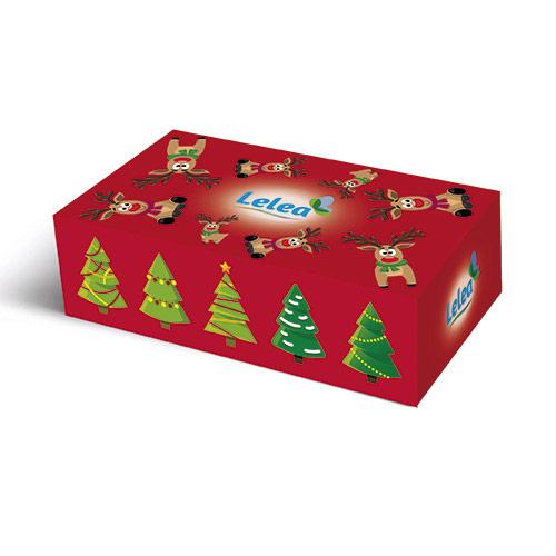 Купить Салфетки бумажные LELEA NEW YEAR Deer 2-х слойные 100 шт, РОССИЯ/ RUSSIA