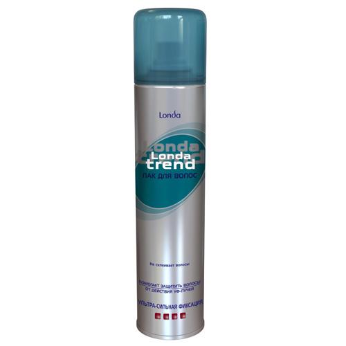 Лак для волос `LONDA` `LONDATREND` ультрасильной фиксации 250 млУкладка<br>Помогает защитить волосы от действия УФ-лучей.<br>