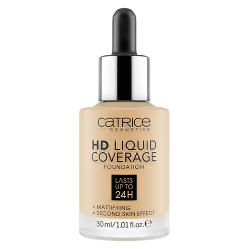 Основа тональная для лица `CATRICE` HD LIQUID COVERAGE тон 037 Golden beige
