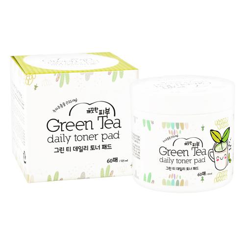 Диски для лица `ESFOLIO` отшелушивающие с экстрактом зеленого чая и AHA-кислотами 60 шт