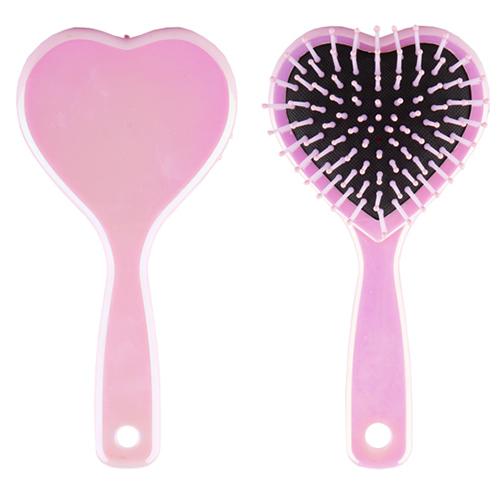 Купить Расческа для волос LADY PINK HEART малиновая, КИТАЙ/ CHINA