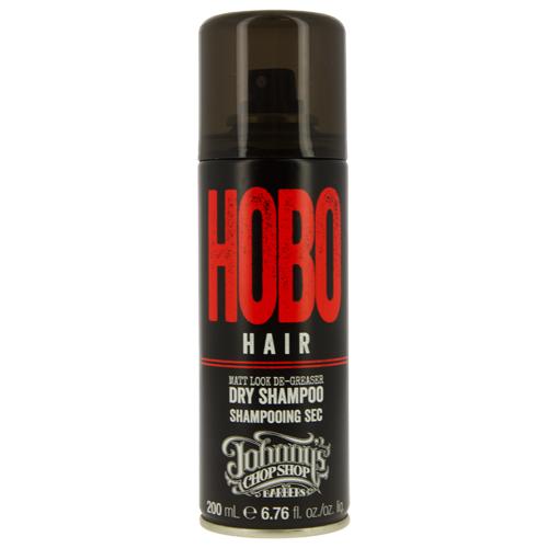 Шампунь для волос `JOHNNY`S CHOP SHOP` HOBO HAIR сухой (мужской) 200 млШампуни <br>Сухой шампунь в баллончике представляет собой обезжириватель, устраняющий жирный блеск и лишний себум кожи головы. Впитывает излишний себум, позволяя освежить внешний вид в перерывах между мытьём волос. Слегка приподнимает волосы у корней, обладает матирующим эффектом. Подходит любому типу волос, вне зависимости их длины. Содержит впитывающий себум крахмал Тапиоки. Без парабенов.<br>