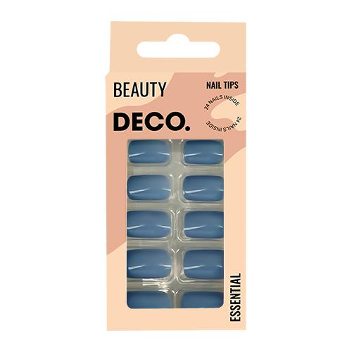 Набор накладных ногтей DECO. ESSENTIAL cosmos 24 шт + клеевые стикеры 24 шт