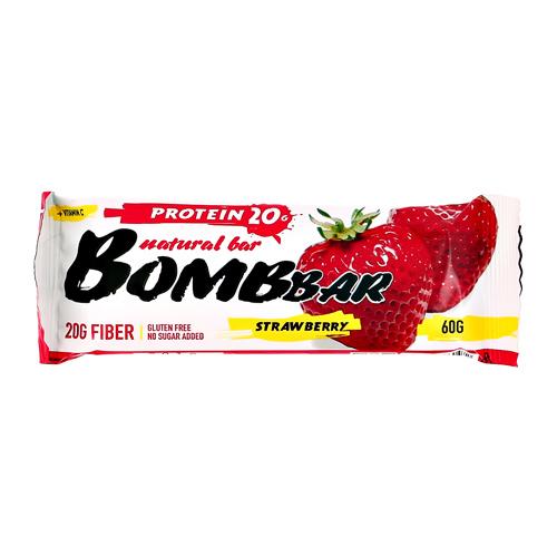 Батончик неглазированный BOMBBAR Клубника 60 г
