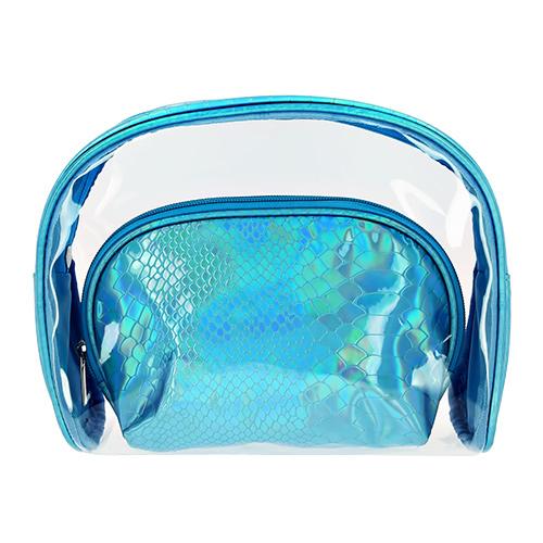 Купить Набор косметичек LADY PINK MERMAID перламутровая голубая 2 шт, КИТАЙ/ CHINA