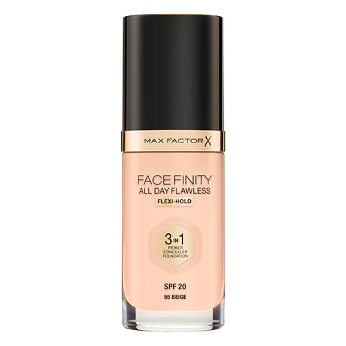 Основа тональная для лица `MAX FACTOR` FACEFINITY ALL DAY FLAWLESS 3 в 1 тон 55