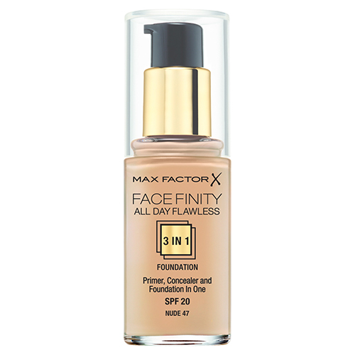 Основа тональная для лица `MAX FACTOR` FACEFINITY ALL DAY FLAWLESS 3 в 1 тон 47