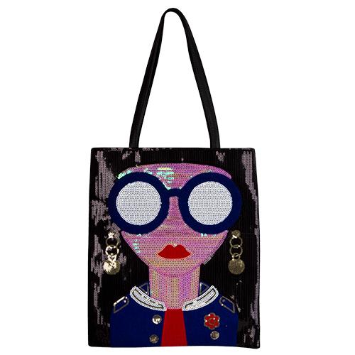 Сумка `LADY PINK` SHINE ON с пайетками чернаяСумки<br>Представить себе стильный образ современной девушки, следящей за модными тенденциями, без сумочки невозможно. Сумки Lady Pink выделяются своими яркими и стильными цветами, оригинальными формами и несомненно станут идеальным дополнением к женскому гардеробу.<br>