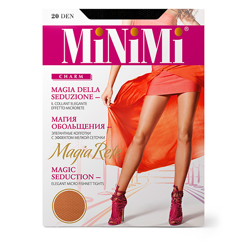 Колготки женские MINIMI MAGIA RETE с эффектом мелкой сеточки тон Nero р-р 3 фото
