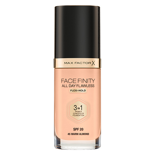 Основа тональная для лица `MAX FACTOR` FACEFINITY ALL DAY FLAWLESS 3 в 1 тон 45