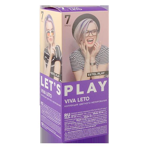 Краска для цветного мелирования ESTEL PLAY viva leto фиолетовыйОкрашивание<br>Коллекция цветного мелирования для волос предназначена для окрашивания с целью придания волосам насыщенного яркого цвета<br>