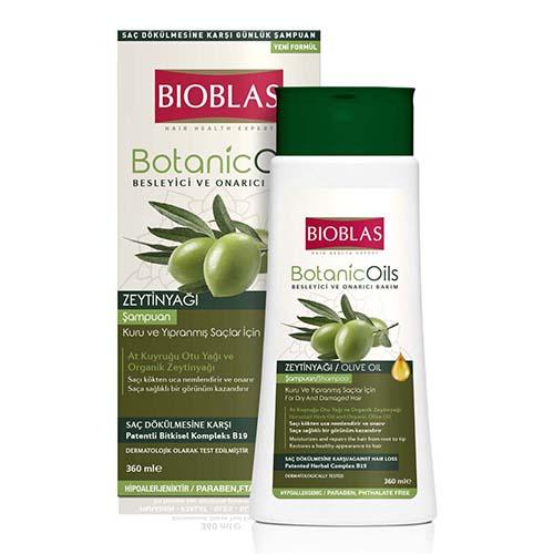 Шампунь для волос BIOBLAS с оливковым маслом для поврежденных волос 360 мл