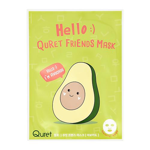 Маска для лица QURET HELLO с экстрактом авокадо питательная 25 г фото