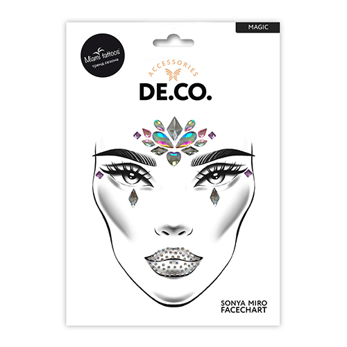 Кристаллы для лица и тела DE.CO. FACE CRYSTALS by Miami tattoos Magic