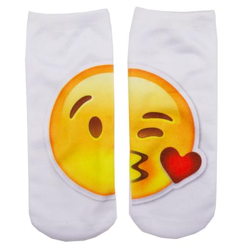 Носки женские SOCKS Big emoji Kiss р-р единыйГольфы и носки<br>Носки женские Big Emoji Kiss р-р единый<br>