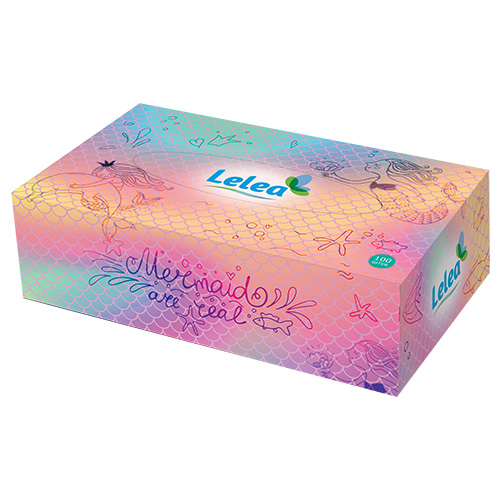 Салфетки бумажные LELEA Mermaids 2-х слойные 100 шт