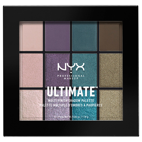 Палетка теней для век `NYX PROFESSIONAL MAKEUP` ULTIMATE MULTI-FINISH тон 07 smoke screen