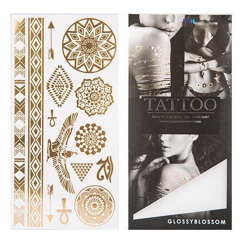 Татуировка для тела `GLOSSYBLOSSOM` FLASH JEWELRY TATTOO переводная (медальоны, крылья, браслеты)Украшения для тела и волос<br>Флеш– тату Glossyblossom –отличный способ стать заметнее и выразить свою индивидуальность!<br>