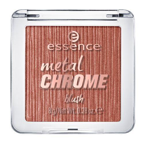Румяна для лица `ESSENCE` METAL CHROME тон 30Румяна<br>Высокопигментированные румяна с шелковистой текстурой, насыщенные шиммерными частицами с металлическим отливом.<br>