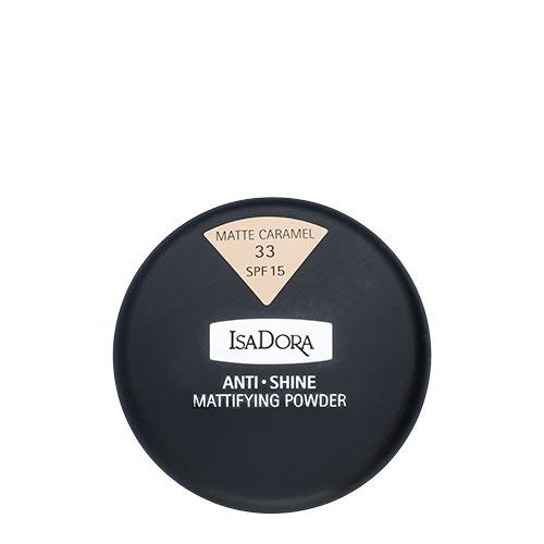 Пудра компактная для лица `ISADORA` ANTI SHINE тон 33 матирующаяПудра<br>Тончайшая компактная пудра устраняет жирный блеск и матирует кожу. Солнцезащитный фактор SPF 15. Мягкий моющийся спонж в комплекте. Для нормальной и жирной кожи. Не содержит ароматизаторов<br>