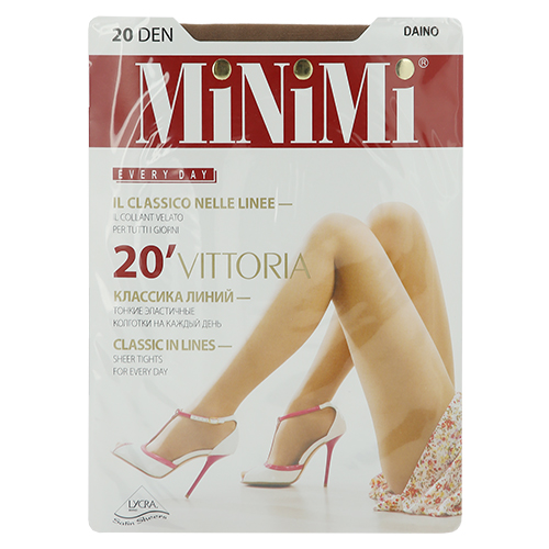 Колготки женские MINIMI VITTORIA 20 den (Daino) р-р 3Колготки<br>Тонкие классические эластичные колготки  с усиленными шортиками, комфортным швом и укрепленным мыском.<br>