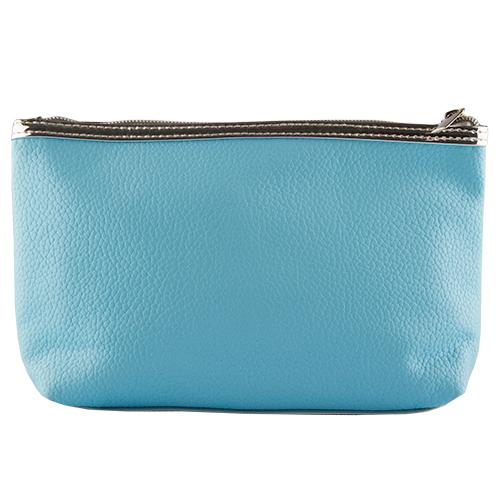 Купить Косметичка прямоугольная LADY PINK METAL голубая, КИТАЙ/ CHINA