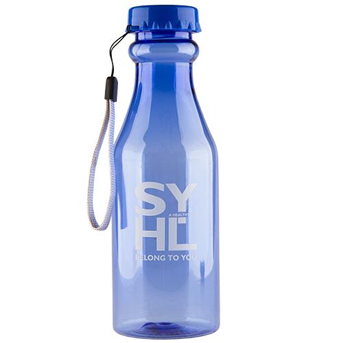 Бутылка для воды FUN прозрачная dark blue 550 мл