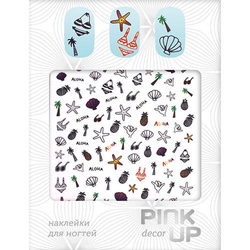 Наклейки для ногтей `PINK UP` AlohaДизайн ногтей<br>Pink Up Nail desing – наклейки для ногтей. Твой незаменимый помощник для создания салонного дизайна ногтей в домашних условиях. Дизайн ногтей который всегда получается!<br>