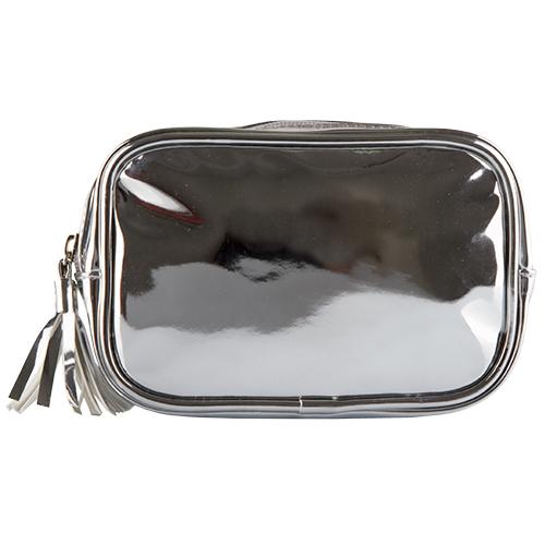 Купить Косметичка прямоугольная LADY PINK METAL SHOCK серебряная, КИТАЙ/ CHINA
