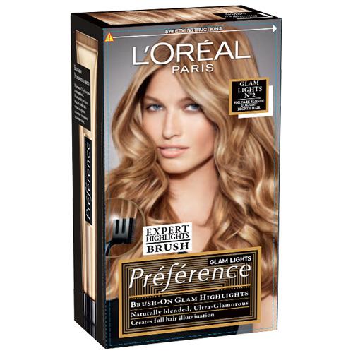 Краска для волос LOREAL PREFERENCE GLAM LIGHTS тон 2 (от светло-русых до темно-русых)Окрашивание<br>Краска для волос LOreal Paris Preference. Glam Light - это новый легкий способ создания соблазнительных прядей с золотистыми переливами от корней до кончиков волос. Достаточно нанести осветляющий крем на длину или кончики волос с помощью эксклюзивной эксперт-расчески, которая позволяет добиться идеального результата нанесения, и подождать 25 минут.<br>В состав упаковки входит: флакон осветляющего крема (20 мл), флакон-аппликатор с проявляющим кремом (60 мл), упаковка осветляющего порошка (18 гр), питательный шампунь-уход (40 мл), инструкция по применению, пара перчаток, эксперт-расческа.<br>