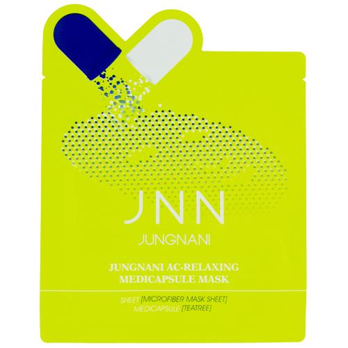 Маска для лица JNN расслабляющая 23 млМаски<br>Маска эффективно снимает раздражение и успокаивает чувствительную кожу, оказывая расслабляющее действие, благодаря экстракту чайного дерева. Являясь мощным натуральным антисептиком, экстракт чайного дерева успешно повышает кожный иммунитет, прекрасно нормализует деятельность сальных желез, отлично борется с акне и угревой сыпью, превосходно увлажняет и освежает кожу, тонизирует и придает ей бодрость.<br>Пропитанная эссенцией маска, созданная из волокна микрофибры, идеально прилегает к коже лица, что позволяет полезным ингредиентам легко проникать в клетки эпидермиса.<br>