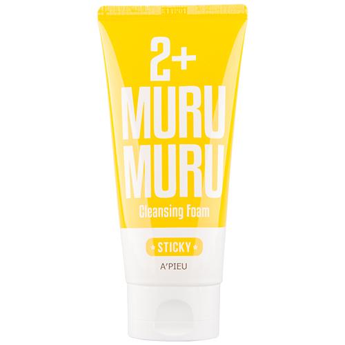 Пенка для умывания `A`PIEU` 2+ Murumuru 130 млУмывание<br>Пенка для умывания способствует глубокому очищению кожи от различных загрязнений. Входящее в состав  масло мурумуру (разновидность пальмовых) эффективно в уходе за сухой кожей, способствует нормализации водно-липидного баланса кожи, защищает от обезвоживания.<br>Основные действующие ингредиенты: масло мурумуру (5000 ppm), экстракт папайи, экстракт льняного семени.<br>