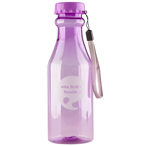 Бутылка для воды FUN прозрачная violet 550 мл
