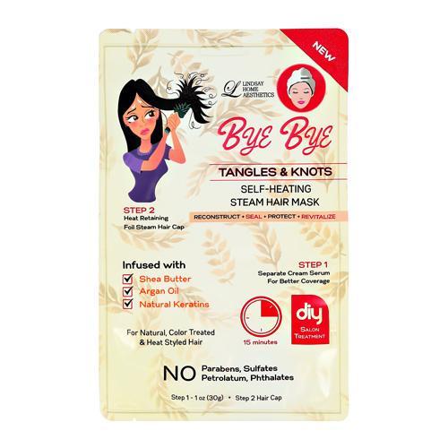 2-Ступенчатая система ухода за волосами LINDSAY BYE BYE для легкого расчесывания сыворотка шапочка 30г + 1шт.
