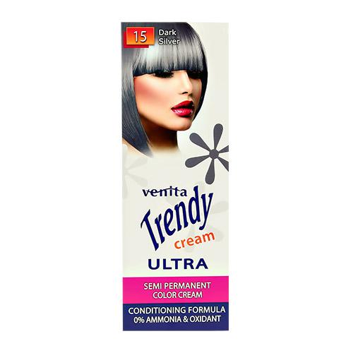 Купить Крем-краска для волос VENITA ULTRA тон 15 Темное серебро тонирующая 75 мл, ПОЛЬША/ POLAND