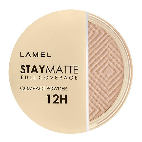 Пудра компактная для лица LAMEL PROFESSIONAL STAY MATTE COMPACT POWDER тон 404